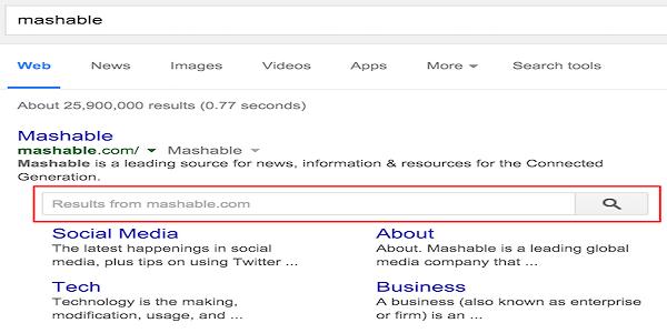 آموزش ایجاد یک سرچ باکس جست و جو در نتیجه سرچ گوگل