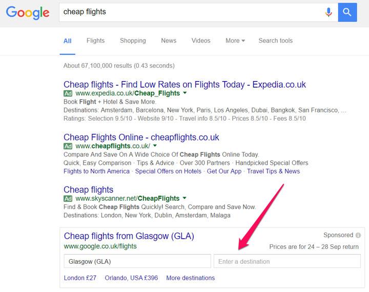 کلمهی کلیدیتون رو در گوگل جستجو کنید