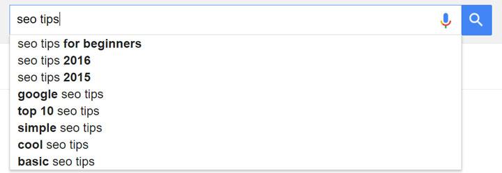 autocomplete گوگل